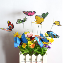 Multicolor butterfly stake outdoor garden decoration