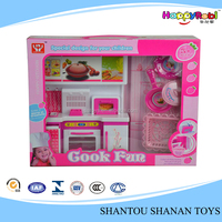 Cute funny kids cooking plastic kitchen play set