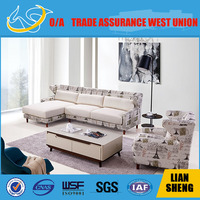 wooden Living room modern fabric sofas furniture