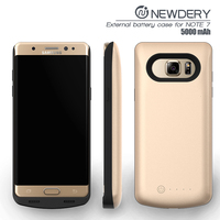 HOT selling in usa 5000mah plastic battery case for samsung note7 battery case portable mobile phone charger for galaxy note 7