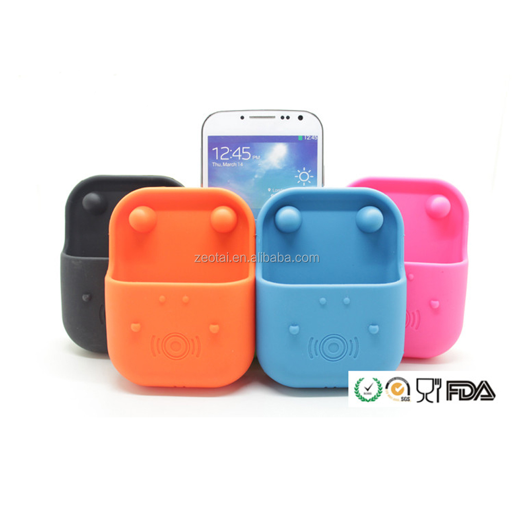 Hippo Shaped Silicone Cell Phone Speaker/ amplifier for promotion