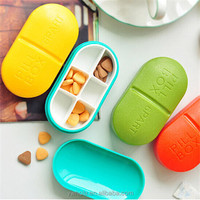 New Arrival Portable 6 Grid Travel Medicine Pills Organizer