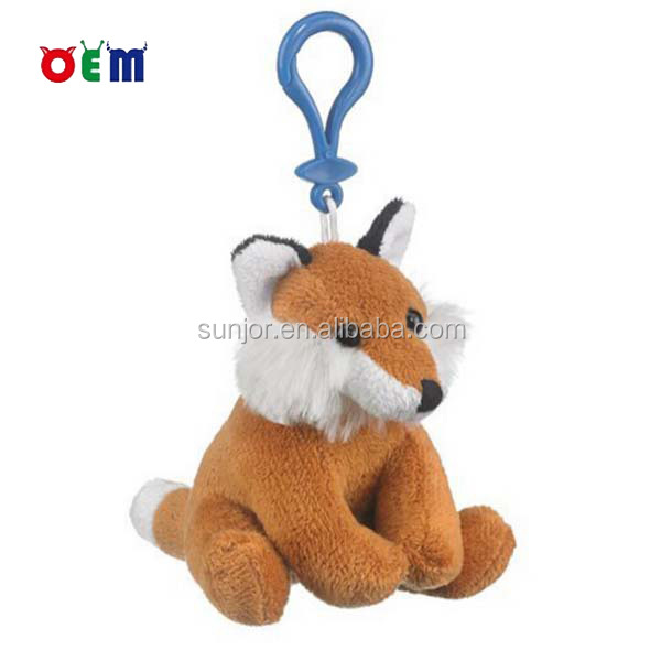 Stuffed Plush Fox Keychain