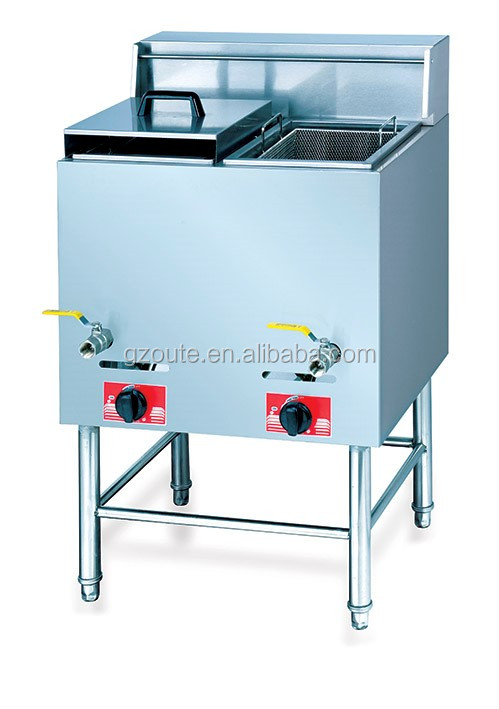 Free standing broaster chicken conveyor lpg gas deep fryer