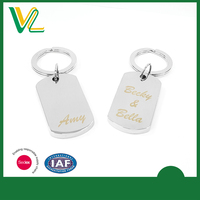 Laser Tag Engraved Zinc Alloy Name tag Key Chain