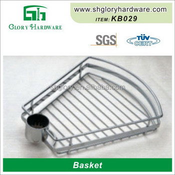 High Quality Stainless Steel Wire Hanging Chrome Fruit Picker Basket