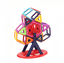 3D Brains Building Blocks Best Magnetic Toys Clear Color Plastic Connecting Blocks for Kids