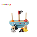 Cute cartoon Pirate Balance Wooden adjustable balance blocks toy for kids/a good gift for children/educational toys for kids