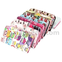 Cross Pattern Wallet Magnetic Flip Stand TPU+Leather Case For Samsung i9600 Galaxy S5 G900(Owl)