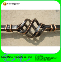 Decorative Wrought Iron Interior Balusters Wholesale--Oil Rubber Copper Powder Coated