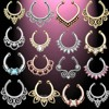 Gold Silver Clip On Tribal Body Jewelry Septum