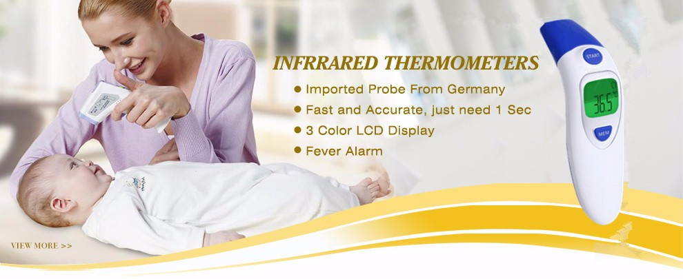 Handle Digital gun type non-contact Hospital infrared thermometer for human body temperature with LCD indication