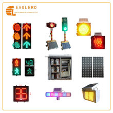 Solar Traffic signal lights system with controller flashing light countdown timer installation
