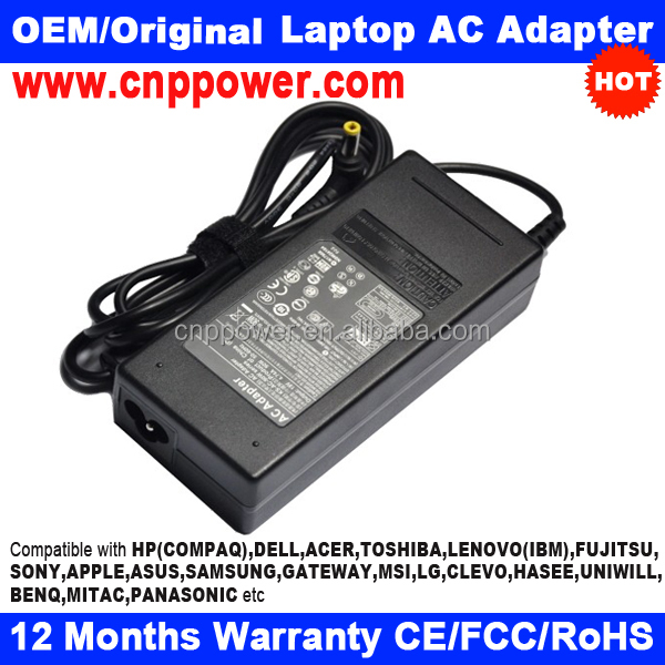 90W 19V 4.74A 5.5mm-2.5mm Replacement AC Adapter for Acer Extensa 5220, 5230, 5235