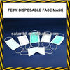Non-woven 3ply disposable face mask,earloop surgical face mask