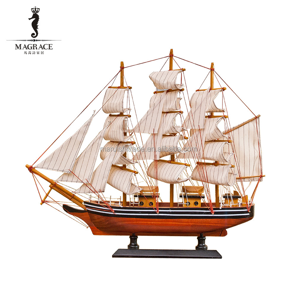2016 home decor handmade wooden ship model as gift buy for Ship decor home
