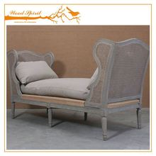 Competitive price french bed with rattan