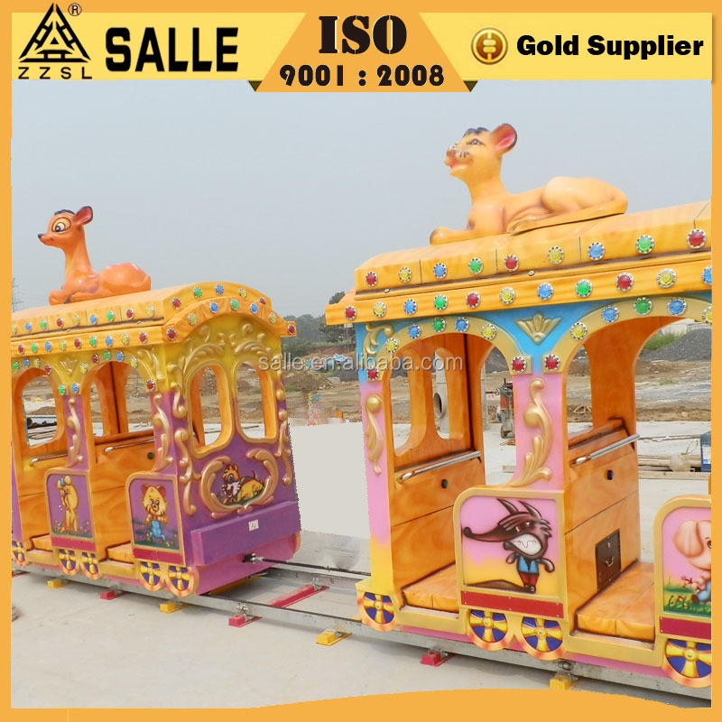 Animal World Garden Amusement Kids Mini Roller Coaster Elephant Train for Sale