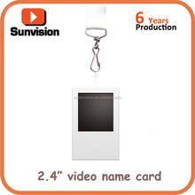 2.4 inch tft lcd video business card, customized video price tag with printing