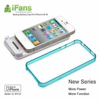 2012 hot new iFans battery power bank charger case for apple iphone 4 4s 4g