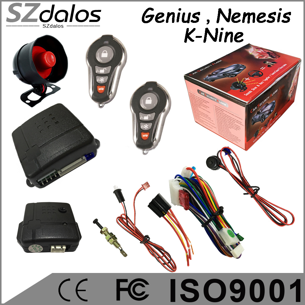 Hot selling One way Genius car alarms systems for South America countries best car alarm
