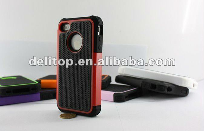 For iPhone 4 Rugged Rubber Matte Hard Case