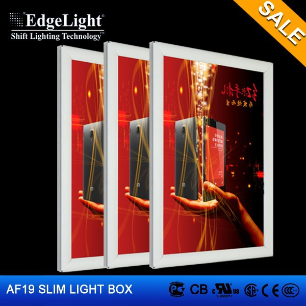 Edgelight AF19 aluminium profile light box advertising custom made led signs