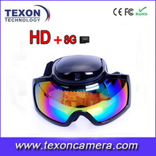 Newest HD 1080P 720P Glasses Camera Skiing Goggles Waterproof Hidden glasses CameraTE-668HD
