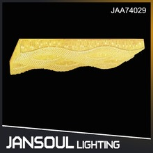 JANSOUL modern rectangular crystal chandelier ceiling lamp for lobby decoration