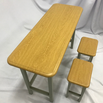 student wooden table