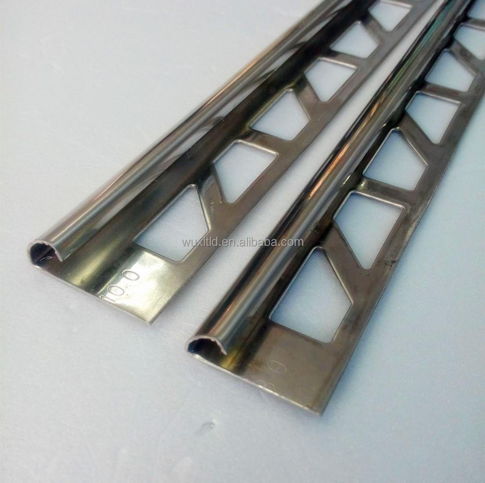 Metal Ceramic Tile Trim Punchedtile Adge Trim Connection