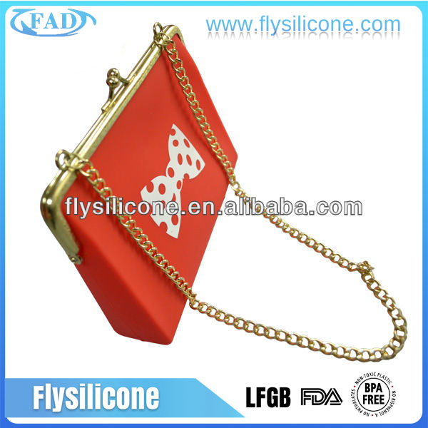 Latest Style Eco-friend Material Fashion Silicone Lady Designer Handbag