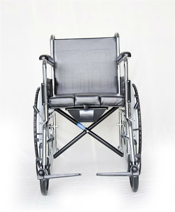 Leather Wheelchair with commode/toilet-made by FDA approved manufacturer