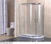 120x80cm shining aluminium shower enclosure with low tray