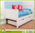 2017 white pine popular good-quality children wooden double bed designs