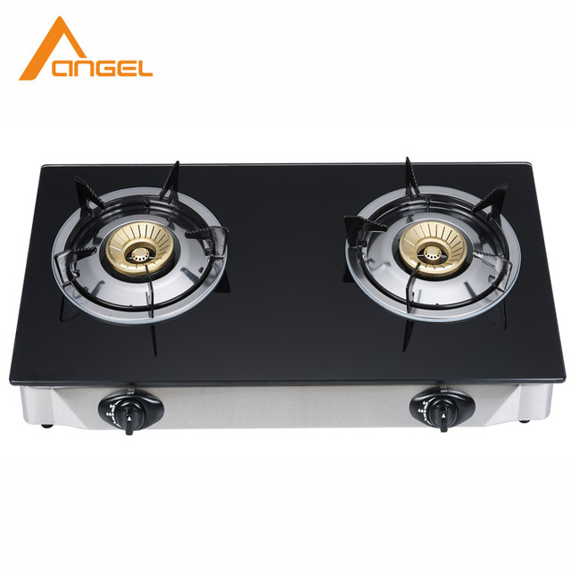 Hot Selling Kitchen Appliance Energy Saving Glass Free Standing Portable 2  Burner Gas Stove