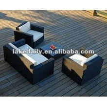 Luxury patio rattan furniture with waterproof cushion and pillow
