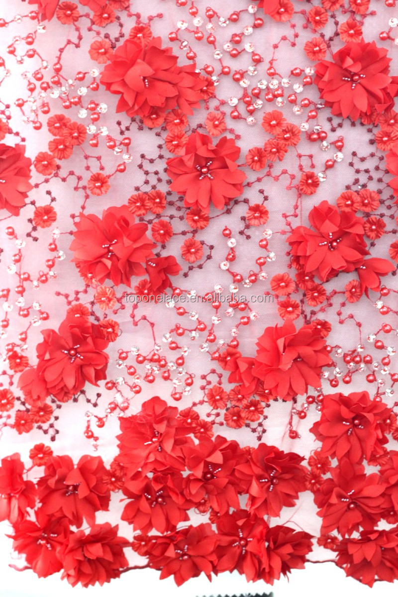 bridal lace fabric wholesale french lace fabric 3d flower lace embroidered fabric