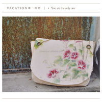Second hand items vintage canvas bag