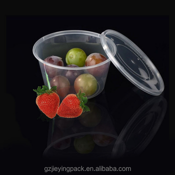 Factory Direct Stackable Small Clear Plastic Fruit Round Boxes with Lid