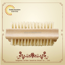 double side wooden nail dust brush nail cleaning brush wholesale