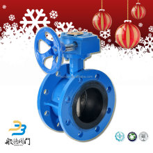 Cast Iron Worm Gear 1200mm Exhaust Flanged Butterfly Valve Weight