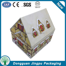 Sophisticated alibaba China house shaped biscuit/cookie tin box