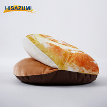 2017 Hisazumi 3D Digital Printed Microfiber Animal House Bread Shaped Pet Dog Bed