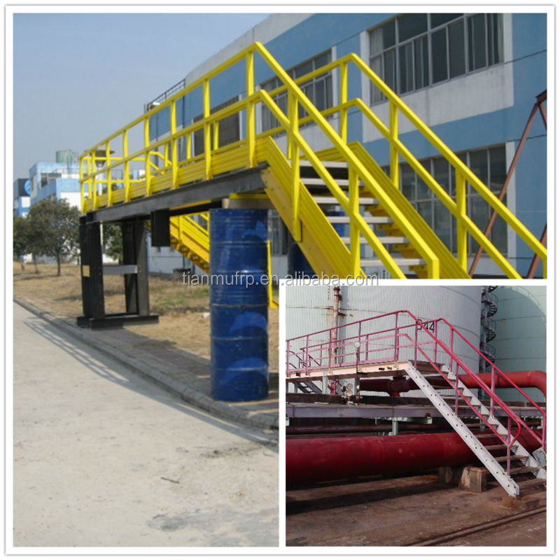 FRP platform for off-shore oil rig