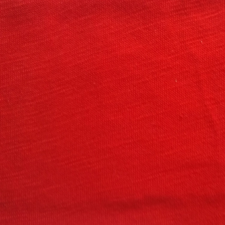 Manufacturer supply 100% cotton slub fabric smooth jersey fabric