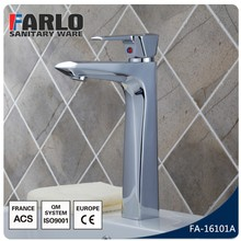 FARLO New design Chrome plated solid brass single handle wash basin faucet