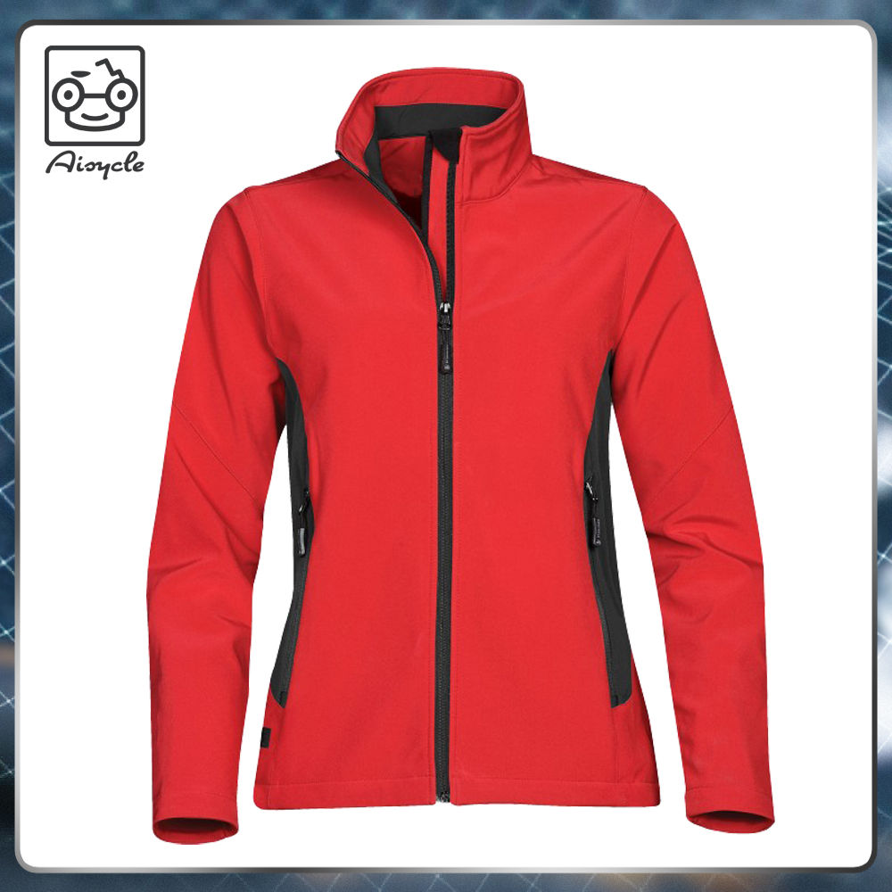 Custom cheap fleece lined soft tech windproof breathable soft tech jacket for woman