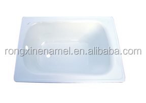 enamel steel plate bathtub small bathtub 1000mmL