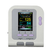 ON SALE CONTEC08A-Vet Digital Sphygmomanometer, BP Monitor with Color LCD Display, Ear Tongue Spo2 Probe